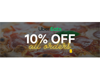 Uber Eats 10% off all orders
