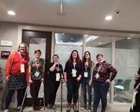 Group photo of NUS disabled students' delegates, including Beth Hollins