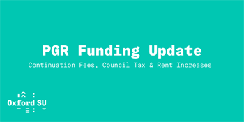 Text 'PGR Funding Update' white on light green background