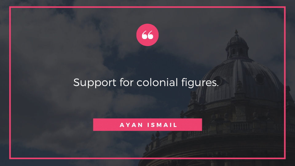 Support for colonial figures.